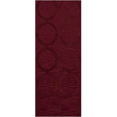 Dover Rich Red Area Rug Rug Size: Runner 26 x 12