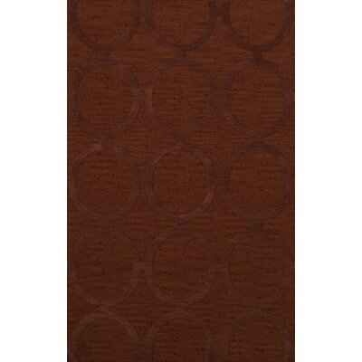 Dover Tufted Wool Paprika Area Rug Rug Size: Rectangle 8' x 10'