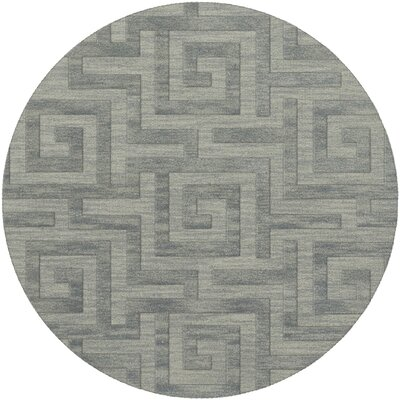 Dover Tufted Wool Sea Glass Area Rug Rug Size: Round 4'