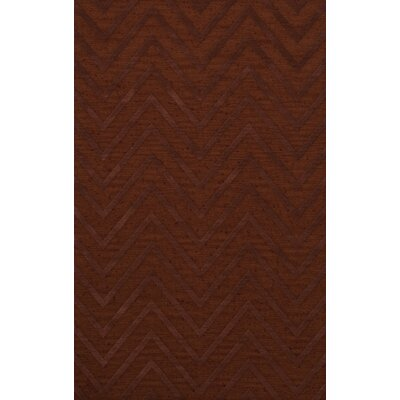 Dover Tufted Wool Paprika Area Rug Rug Size: Rectangle 8 x 10