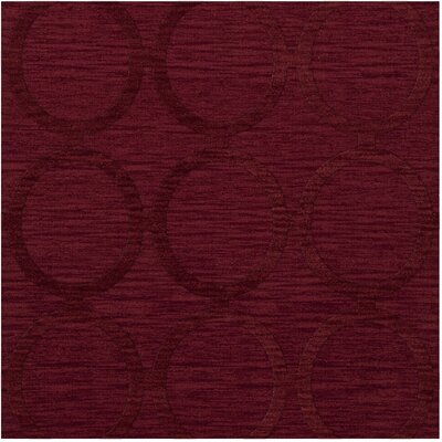 Dover Rich Red Area Rug Rug Size: Square 6
