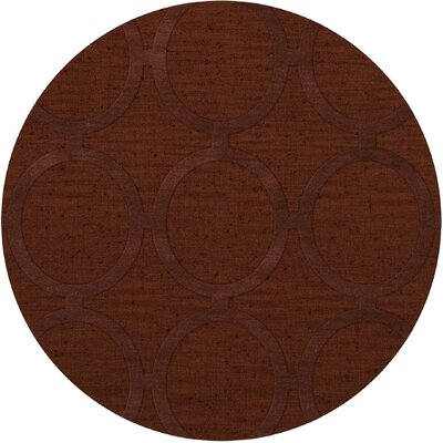 Dover Tufted Wool Paprika Area Rug Rug Size: Round 6'