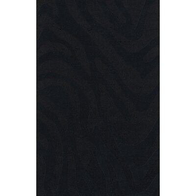 Dover Tufted Wool Black Area Rug Rug Size: Rectangle 5 x 8