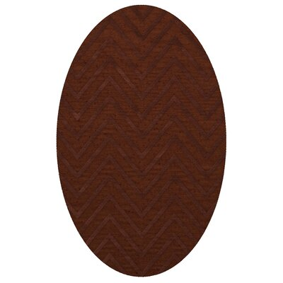 Dover Tufted Wool Paprika Area Rug Rug Size: Oval 5 x 8