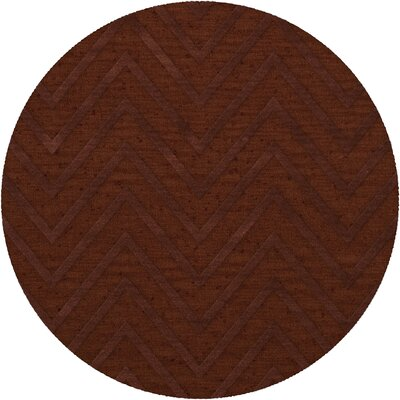 Dover Tufted Wool Paprika Area Rug Rug Size: Round 12