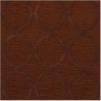 Dover Tufted Wool Paprika Area Rug Rug Size: Square 6