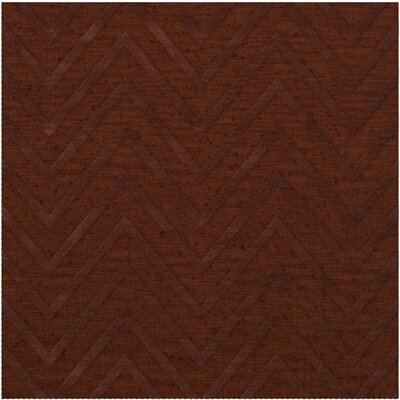 Dover Tufted Wool Paprika Area Rug Rug Size: Square 12