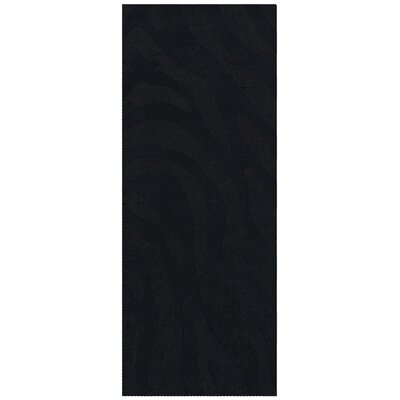 Dover Tufted Wool Black Area Rug Rug Size: Runner 26 x 12