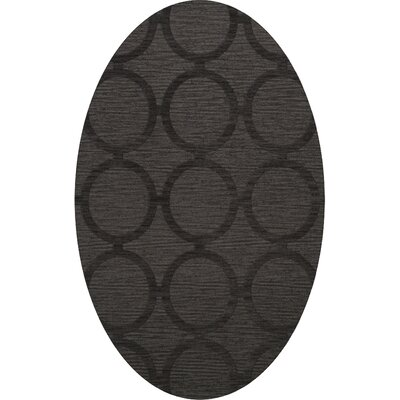 Dover Tufted Wool Ash Area Rug Rug Size: Oval 6 x 9