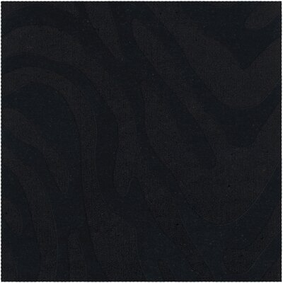Dover Tufted Wool Black Area Rug Rug Size: Square 12