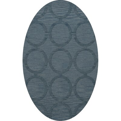 Dover Tufted Wool Sky Area Rug Rug Size: Oval 6 x 9