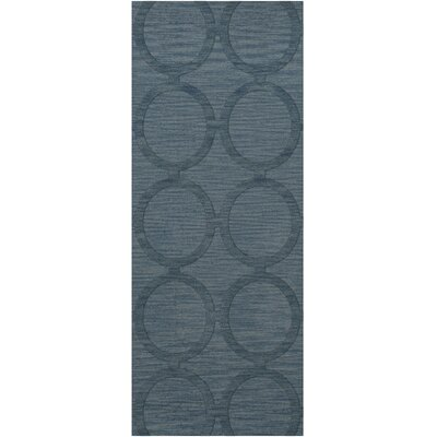 Dover Tufted Wool Sky Area Rug Rug Size: Runner 26 x 8
