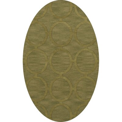 Dover Tufted Wool Pear Area Rug Rug Size: Oval 5 x 8