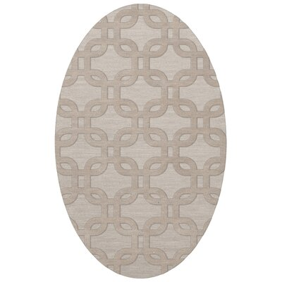 Dover Putty Area Rug Rug Size: Oval 12 x 18