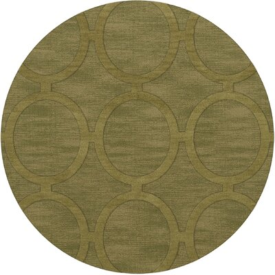 Dover Tufted Wool Pear Area Rug Rug Size: Round 4
