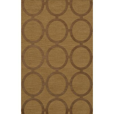 Dover Tufted Wool Gold Dust Area Rug Rug Size: Rectangle 12 x 18