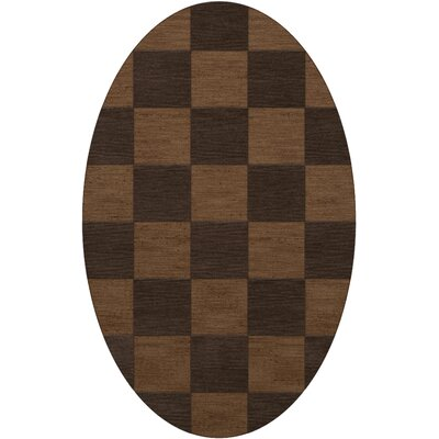Dover Tufted Wool Caramel Area Rug Rug Size: Oval 4 x 6