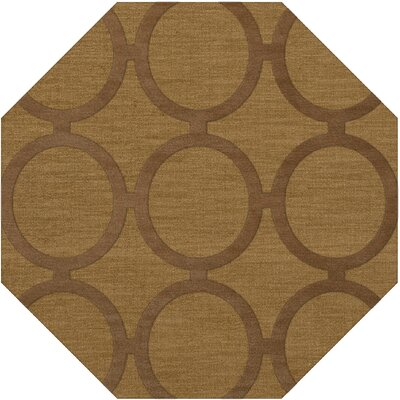 Dover Tufted Wool Gold Dust Area Rug Rug Size: Octagon 12