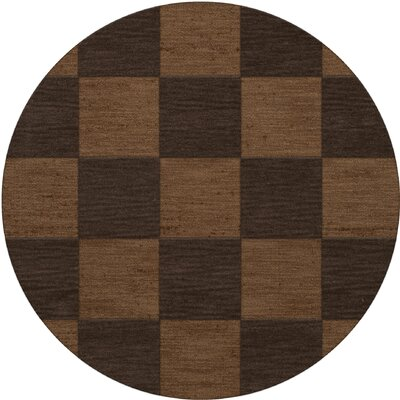 Dover Tufted Wool Caramel Area Rug Rug Size: Round 8