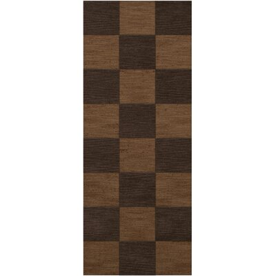 Dover Tufted Wool Caramel Area Rug Rug Size: Runner 26 x 8