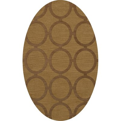 Dover Tufted Wool Gold Dust Area Rug Rug Size: Oval 3 x 5