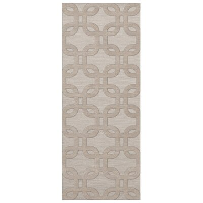 Dover Putty Area Rug Rug Size: Runner 26 x 12