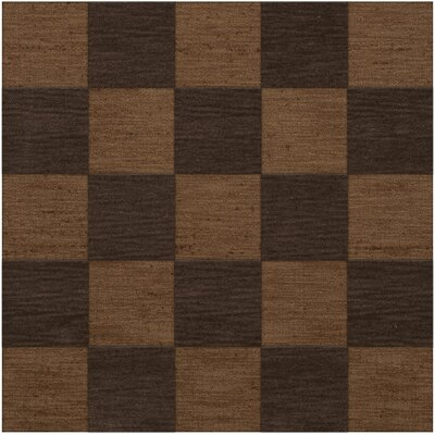 Dover Tufted Wool Caramel Area Rug Rug Size: Square 4