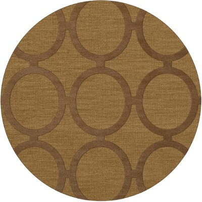 Dover Tufted Wool Gold Dust Area Rug Rug Size: Round 12