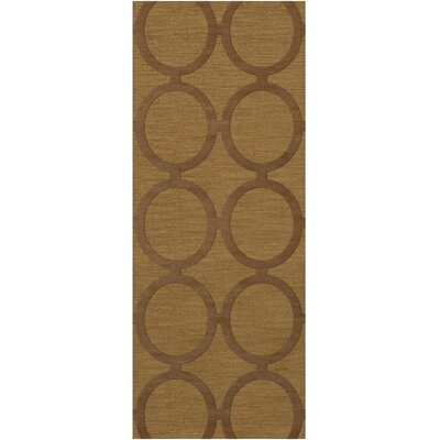 Dover Tufted Wool Gold Dust Area Rug Rug Size: Runner 26 x 12