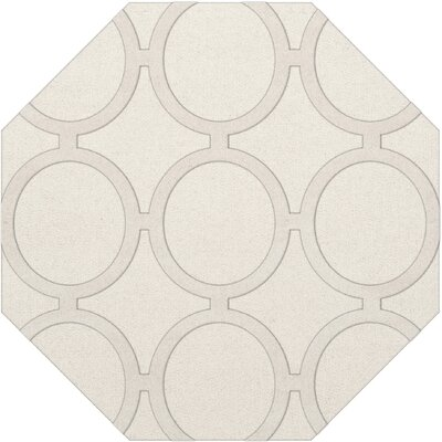 Dover Snow Area Rug Rug Size: Octagon 6