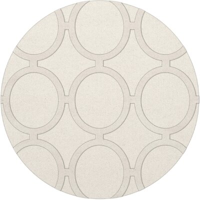 Dover Snow Area Rug Rug Size: Round 12