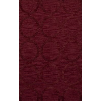 Dover Rich Red Area Rug Rug Size: 5 x 8