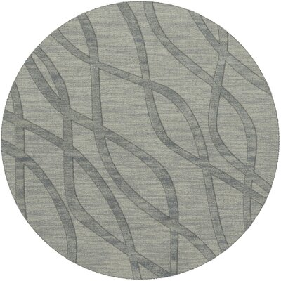 Dover Tufted Wool Sea Glass Area Rug Rug Size: Round 4