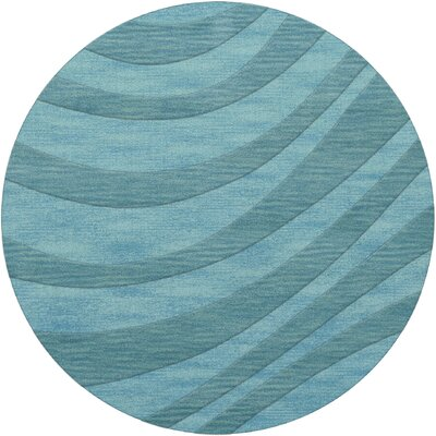Dover Tufted Wool Peacock Area Rug Rug Size: Round 4