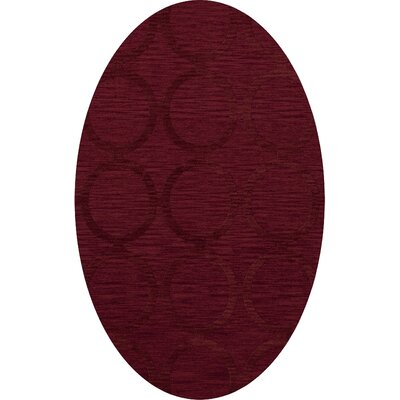 Dover Rich Red Area Rug Rug Size: Oval 3 x 5