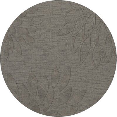 Bao Silver Area Rug Rug Size: Round 8