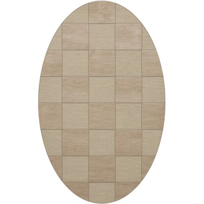 Dover Tufted Wool Linen Area Rug Rug Size: Oval 6 x 9