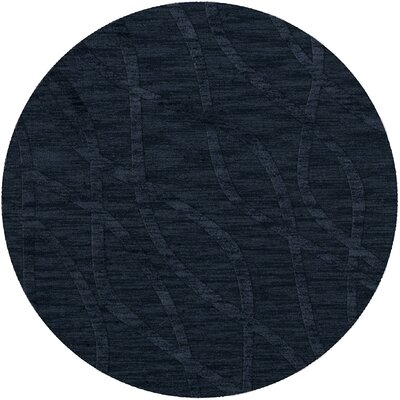 Dover Navy Area Rug Rug Size: Round 6