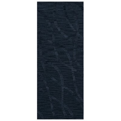 Dover Navy Area Rug Rug Size: Runner 26 x 12