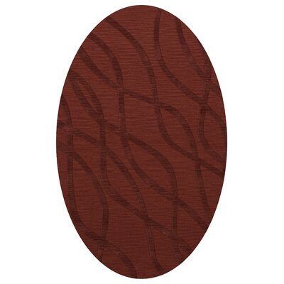 Dover Tufted Wool Canyon Area Rug Rug Size: Oval 3 x 5