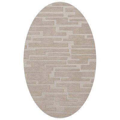 Dover Putty Area Rug Rug Size: Oval 6 x 9