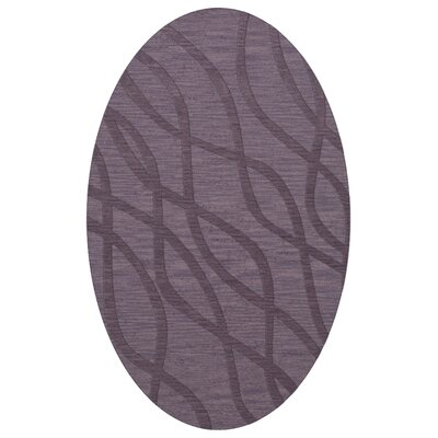 Dover Tufted Wool Viola Area Rug Rug Size: Oval 6 x 9