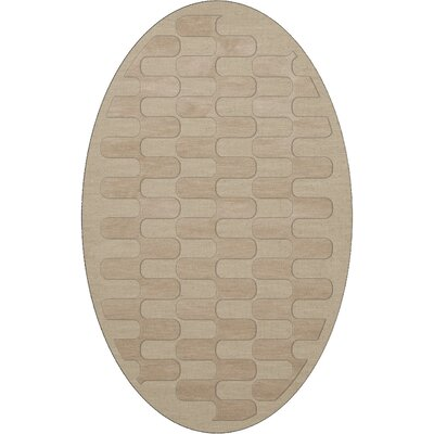 Dover Linen Area Rug Rug Size: Oval 12 x 15