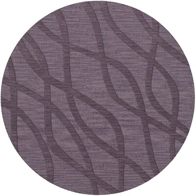 Dover Tufted Wool Viola Area Rug Rug Size: Round 10'
