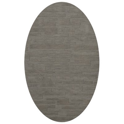 Dover Silver Area Rug Rug Size: Oval 9 x 12