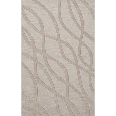 Dover Tufted Wool Putty Area Rug Rug Size: Rectangle 5 x 8