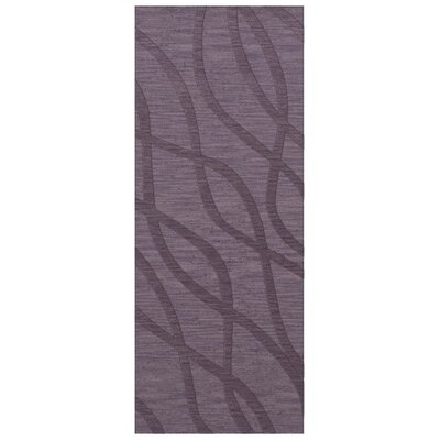 Dover Tufted Wool Viola Area Rug Rug Size: Runner 26 x 8