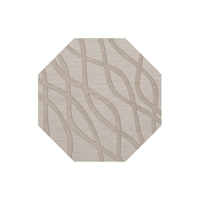 Dover Tufted Wool Putty Area Rug Rug Size: Octagon 4