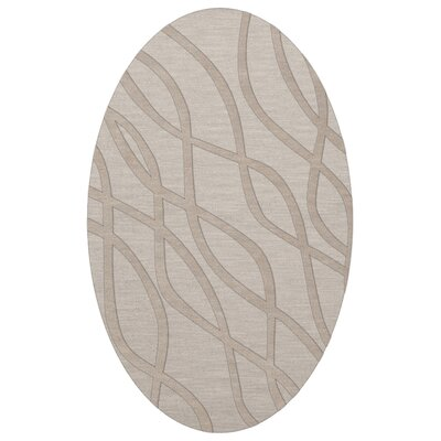 Dover Tufted Wool Putty Area Rug Rug Size: Oval 8 x 10