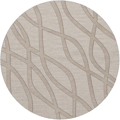 Dover Tufted Wool Putty Area Rug Rug Size: Round 8'